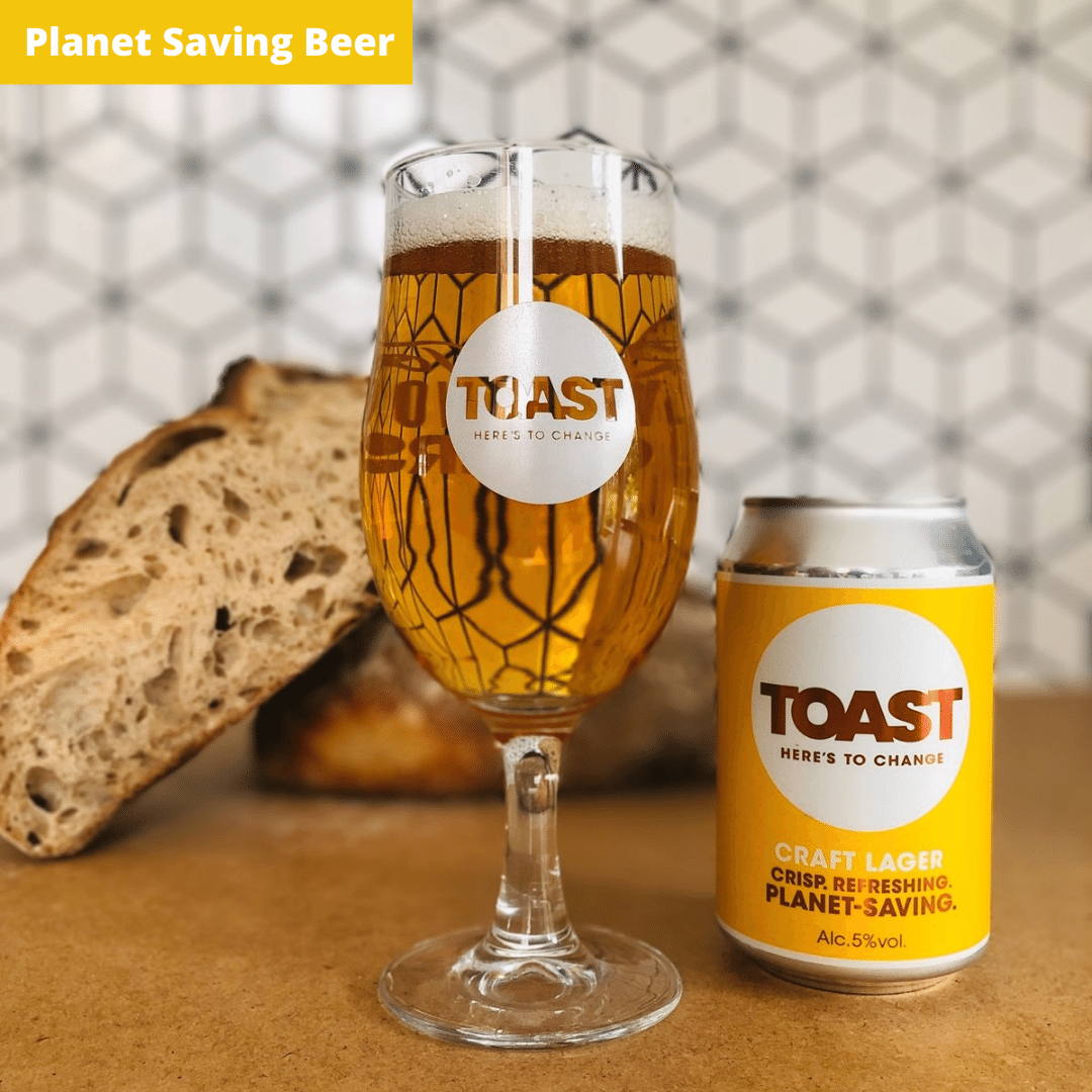 Toast Ale Canned Bread Beer Craft Lager can vegan